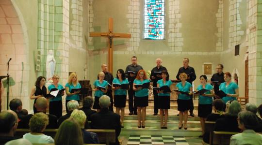 15.07.2014  Koncert chóru Sanctus Andreus w Chateauneuf we Francji