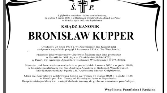 Pożegnanie ks. kan. Bronisława Kuppera