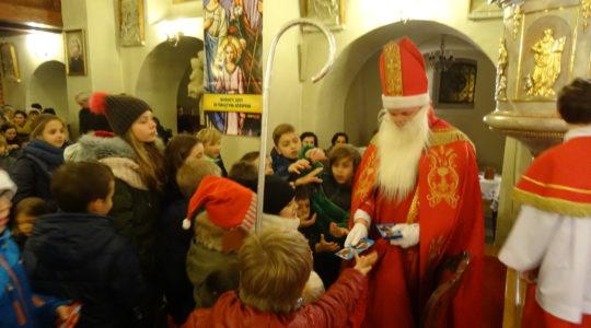 06.12.2017 Święty Mikołaj w naszym kościele